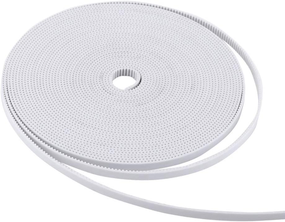 Correa Dentada, BiuZi 10M 2GT-6 Correa Dentada de Apertura de Extremo Abierto Blanco Poliuretano PU Acero 3D Accesorios for Impresoras: Amazon.es: Electrónica