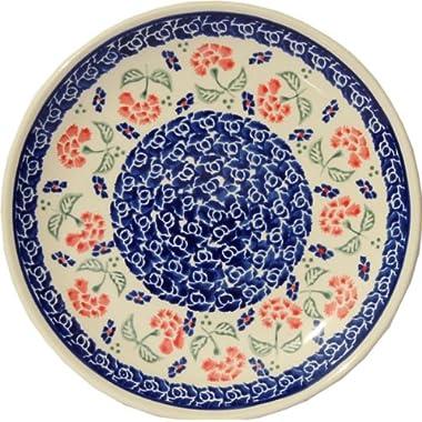 Polish Pottery Plate 7.5 Inch From Zaklady Ceramiczne Boleslawiec #Gu-814-963 Classic Pattern, 7.5 Inch Diameter