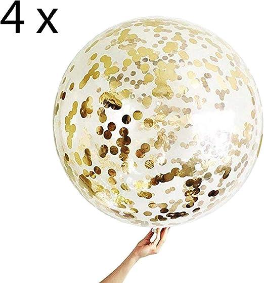 4 Globos de Confeti Gigante XXL Confetti Balloon. Globo ...