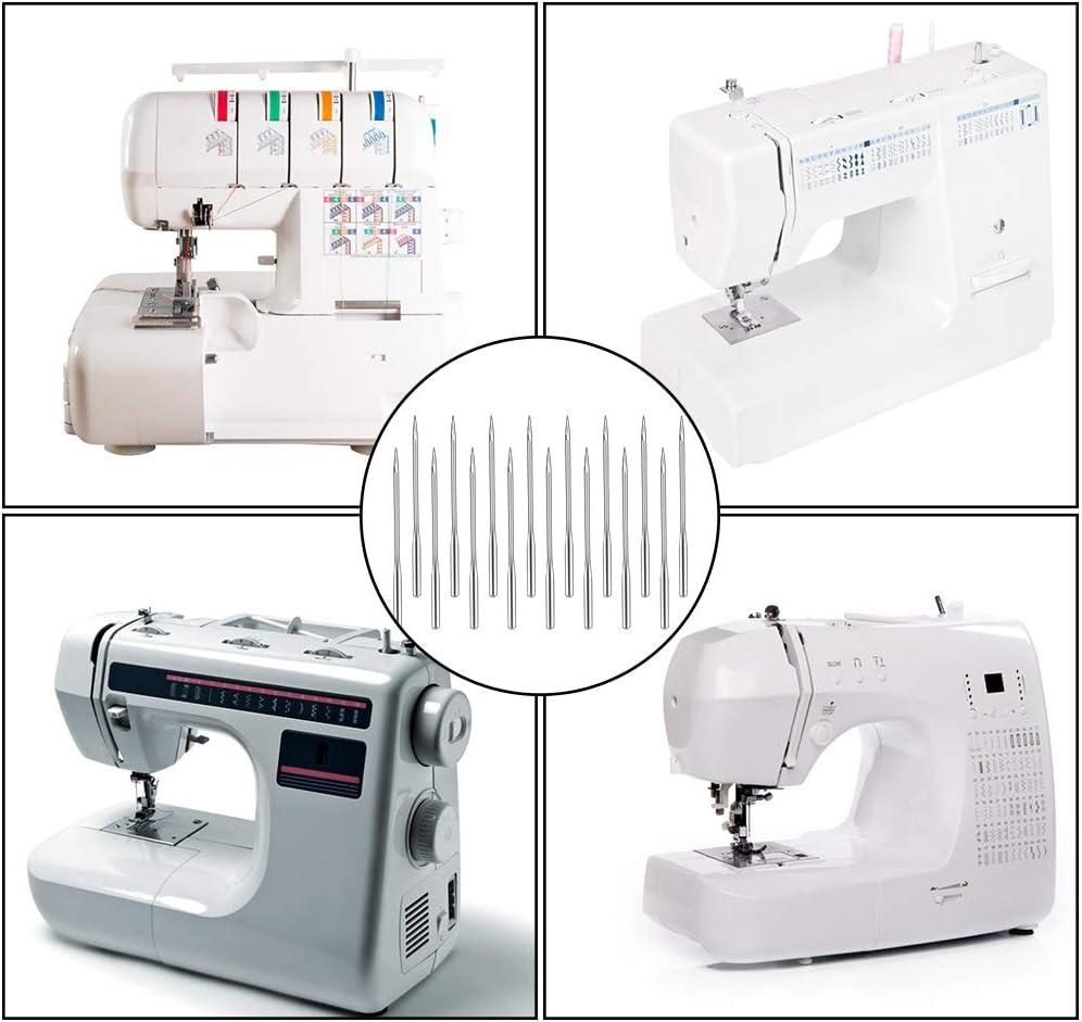 Varmax Brother Janome Mukum 10Pcs Sewing Machine Needles Universal Regular Point for Singer