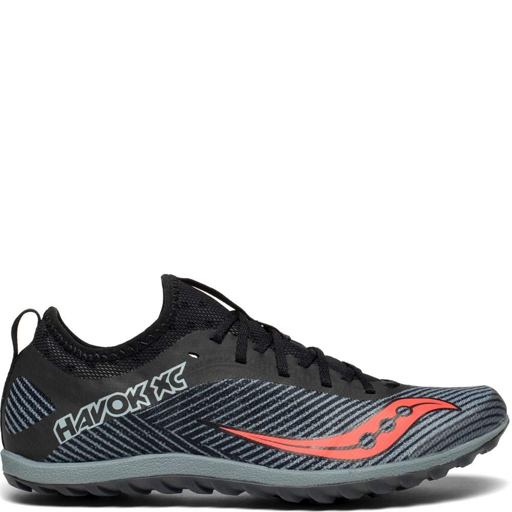 Saucony Women's Havok XC2 Flat Track Shoe, Black/Grey/Vizi-red, 9 M US by Saucony
