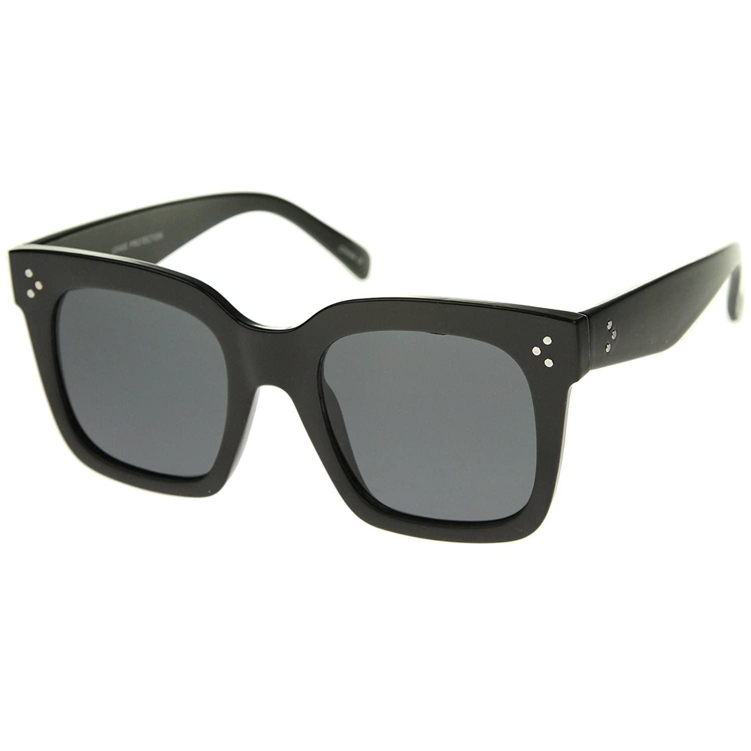 420bdb8ac25 zeroUV - Retro Oversized Square Sunglasses for Women with Flat Lens 50mm  frame optic ZV-A252 larger image