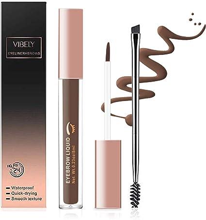 ONLYOILY Gel de Cejas -Tintes para Cejas de Maquillaje Natural Colores de Cejas en Crema Geles Líquido para Cejas con Cepillos (02)