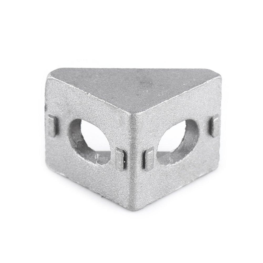 17 mm 10pcs 2020 Soporte de Esquina de Aleaci/ón de Aluminio,L forma de /Ángulo Derecho del Sujetador de la Abrazadera Home Hardware 20 20