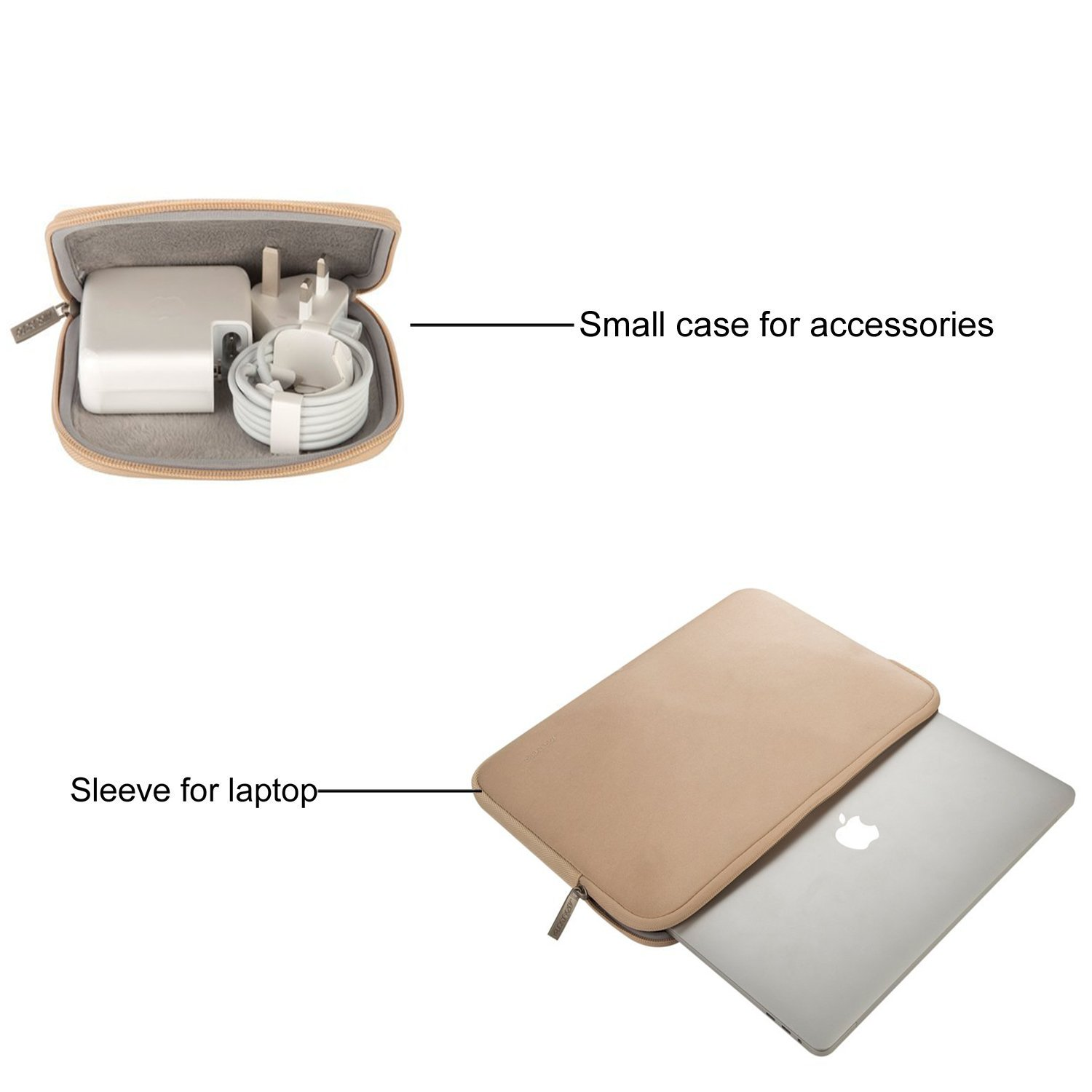 MOSISO Water Repellent Neoprene Sleeve Bag Cover Compatible 13-13.3 Inch Laptop with Small Case Living Coral