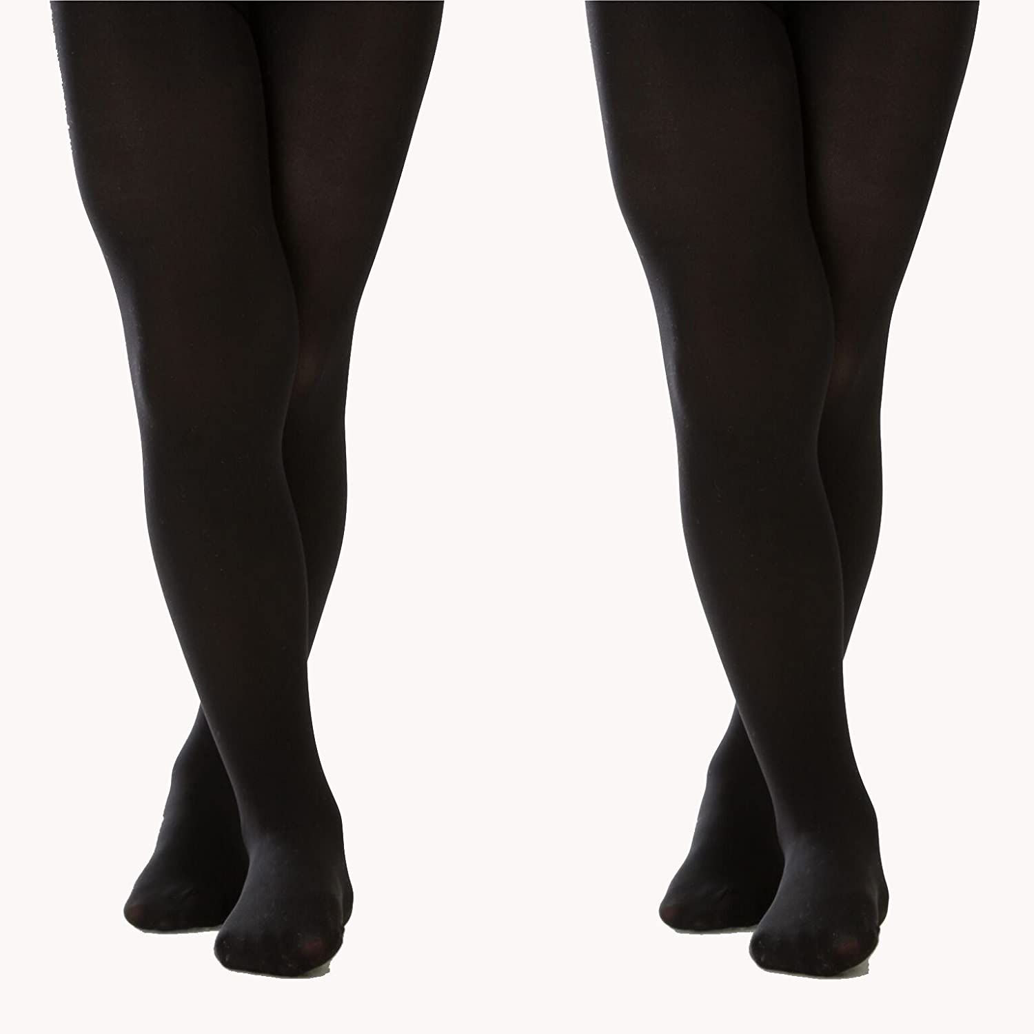 Silky Toes Girls' Microfiber Opaque Footed Tights