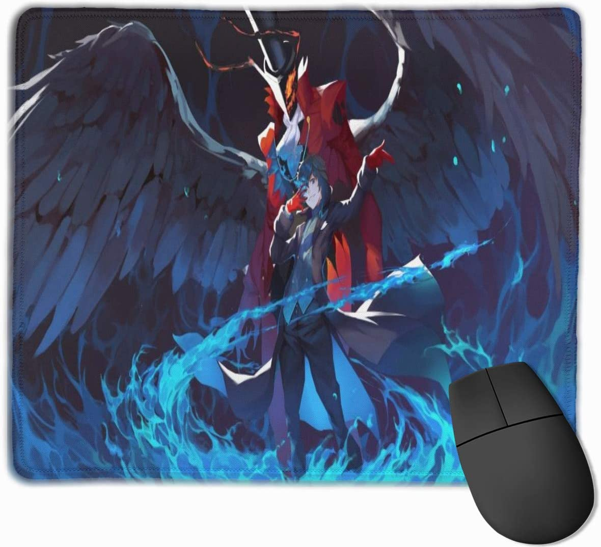 Rectangular Non-Slip Rubber Mouse Pad 10 X 12 Inches Rubber Base for Office and Home Use Computer Desk Pad Persona 5 Gaming Mouse Pad Non-Slip Mouse Pad Computer Mouse Pad with Seam Edge