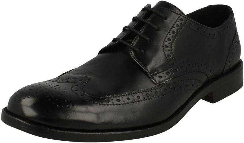 extraño Atento Deliberadamente  Clarks Mens Formal Brogue Detailed Shoes James Wing: Amazon.co.uk: Shoes &  Bags
