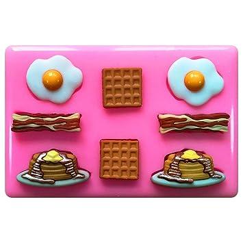 Fairie Blessings Molde de silicona para decoración de pasteles y pasteles, diseño de huevos de bacón: Amazon.es: Hogar