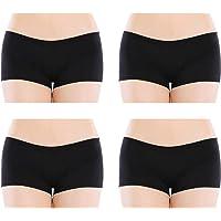 Closecret Lencería para Mujer Paquete de 6 Comfort Soft Boyshorts Bragas de Algodón Elástico