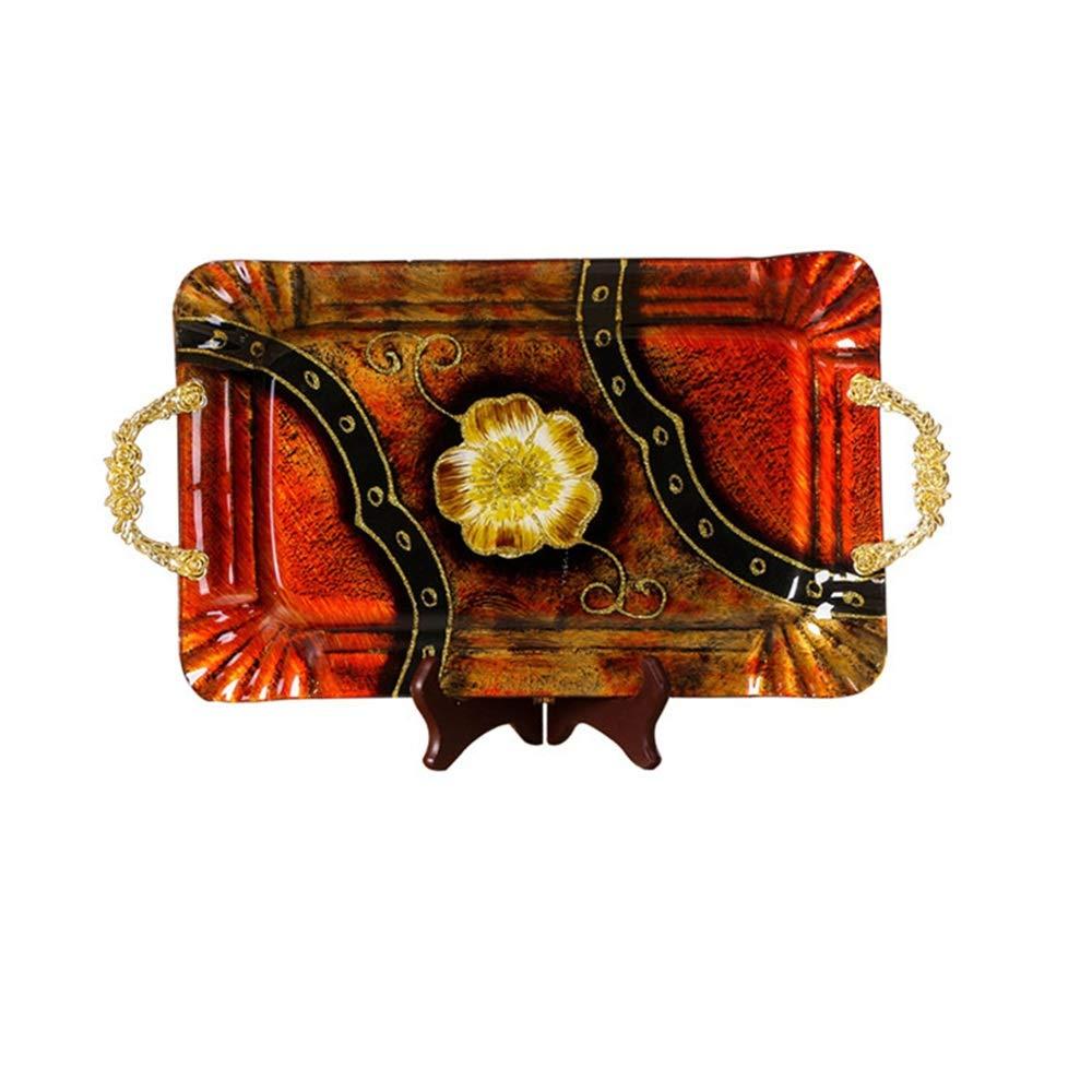 THOR-YAN ヨーロッパのアートガラスフルーツプレート現代のリビングルームホームキャンディープレートセットサラダプレートドライフルーツプレートフルーツプレート -フルーツバスケット (サイズ さいず : Large) Large  B07PJD8KB2