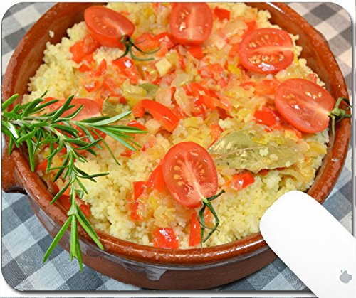 Luxlady Gaming Mousepad 9.25in X 7.25in IMAGE: 25749791 Couscous with vegetables in clay dish