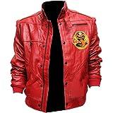 Johnny Lawrence Red Cobra Kai Leather Jacket...