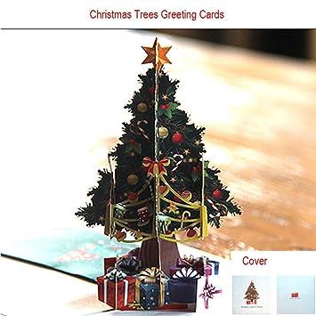 Frohe Weihnachten 3d.Lhwy Künstliche Weihnachtsbäume Deko 3d Up Karte Weihnachtsbäume