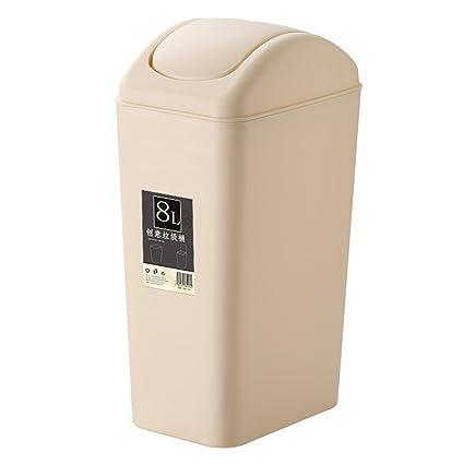 Amazoncom Biyan9mz 8 Liter2 Gallon Compact Plastic Bathroom Trash