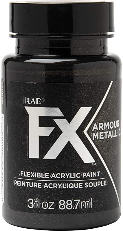 Amazon Com Plaidfx Metallic Flexible Acrylic Paint Ideal For Pliable Surfaces And Cosplay Costumes Non Cracking Or Peeling No Tack Durable 3 Oz Gauntlet
