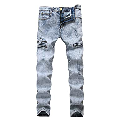 Moda para Hombre Causal Pocket Zipper Slim Fit Color SóLido ...