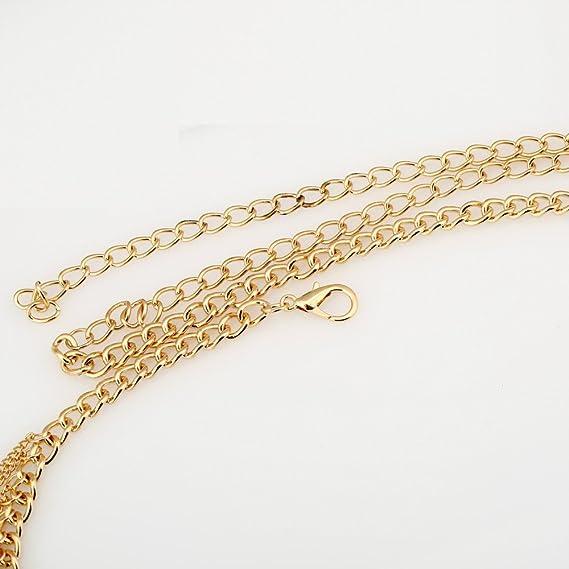 YEEOGA Bohemian Ethnic Beads Gold Tassel Cintura Cadena ...