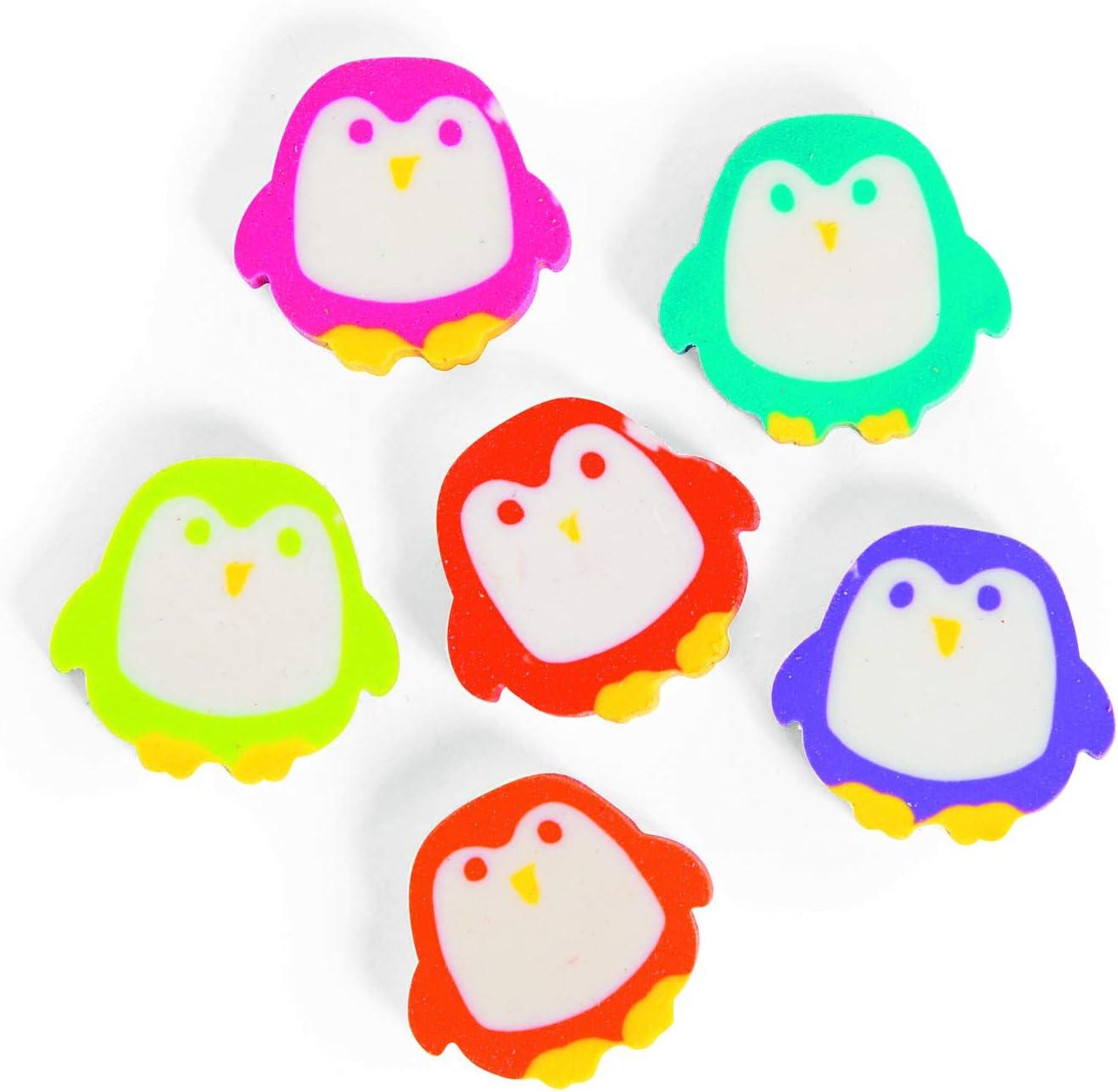 Penguin Erasers Christmas Winter Teacher Rewards Supplies Pack of 24