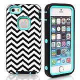 iPhone 5C Case,Lantier Wave Pattern 3 in 1 Design [Shockproof] [Heavy Duty Bumper] - Best Reviews Guide