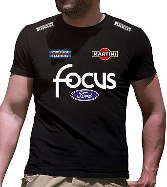 Print /& Design Felpa con Cappuccio Ford Focus Personalizzata Nera