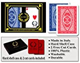 Da Vinci Ruote, Italian 100% Plastic Playing Cards, 2-Deck Poker Size Set, Regular Index, with 2 Cut Cards
