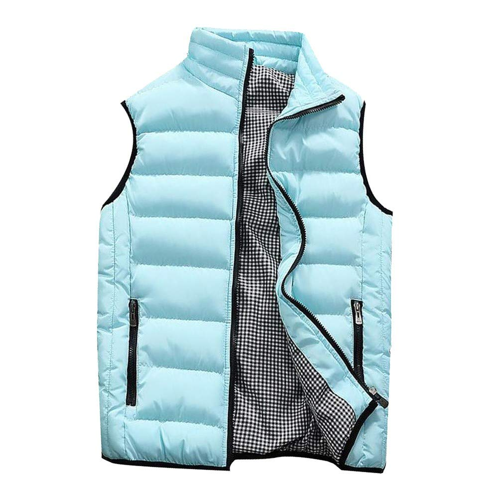 PLENTOP Men Winter Coat Padded Cotton Vest Warm Hooded Thick Vest Tops Jacket 25.09