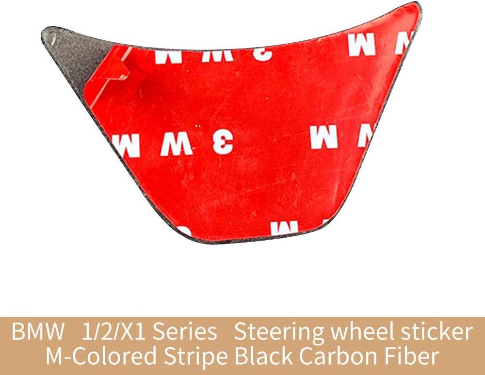 Steering Wheel Decor Soyeah Carbon Fiber Steering Wheel Sticker M Stripe Emblem 3D Car Sticker for BMW F48 1 Series 2016-2018 2 Series X1