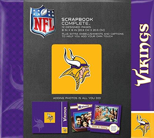 C.R. Gibson Scrapbook Complete Kit, Small, Minnesota Vikings (N878624M)