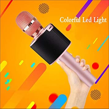 Micrófonos Inalámbricos,Portátil Micrófono Inalámbrico Con Linterna Micrófono Karaoke Canción Dorada Del Teléfono Inalámbrico K Micrófono Karaoke Bluetooth KTV Karaoke Para Casa Móvil (Color : Pink) : Amazon.es: Electrónica