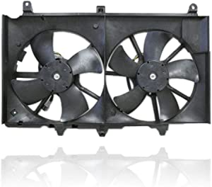 Dual Radiator and Condenser Fan Assembly - Cooling Direct For/Fit NI3115127 03-06 Nissan 350Z 03-06 Infiniti G35 Sedan 03-07 G35 Coupe