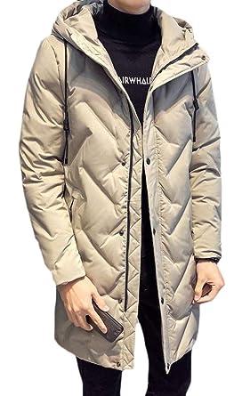 9af41b50c9ac Joe Wenko Men s Packable Thicken Warm Hooded Puffer Winter Down Jacket Coat  Apricot XS