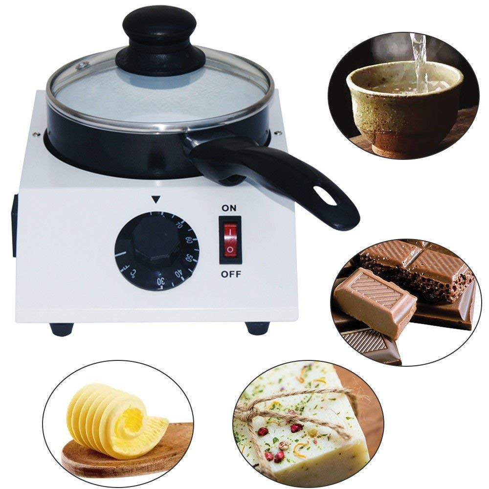 TRUSTME 40W Mini Electric Chocolate Melting Machine Ceramic Non-Stick single Pot Tempering Cylinder Melter Pan 110V/60Hz