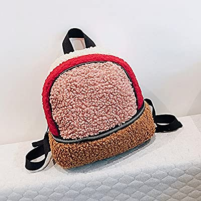 Women Bags All Season Fur Backpack / Zipper for Casual Blushing Pink 85%OFF