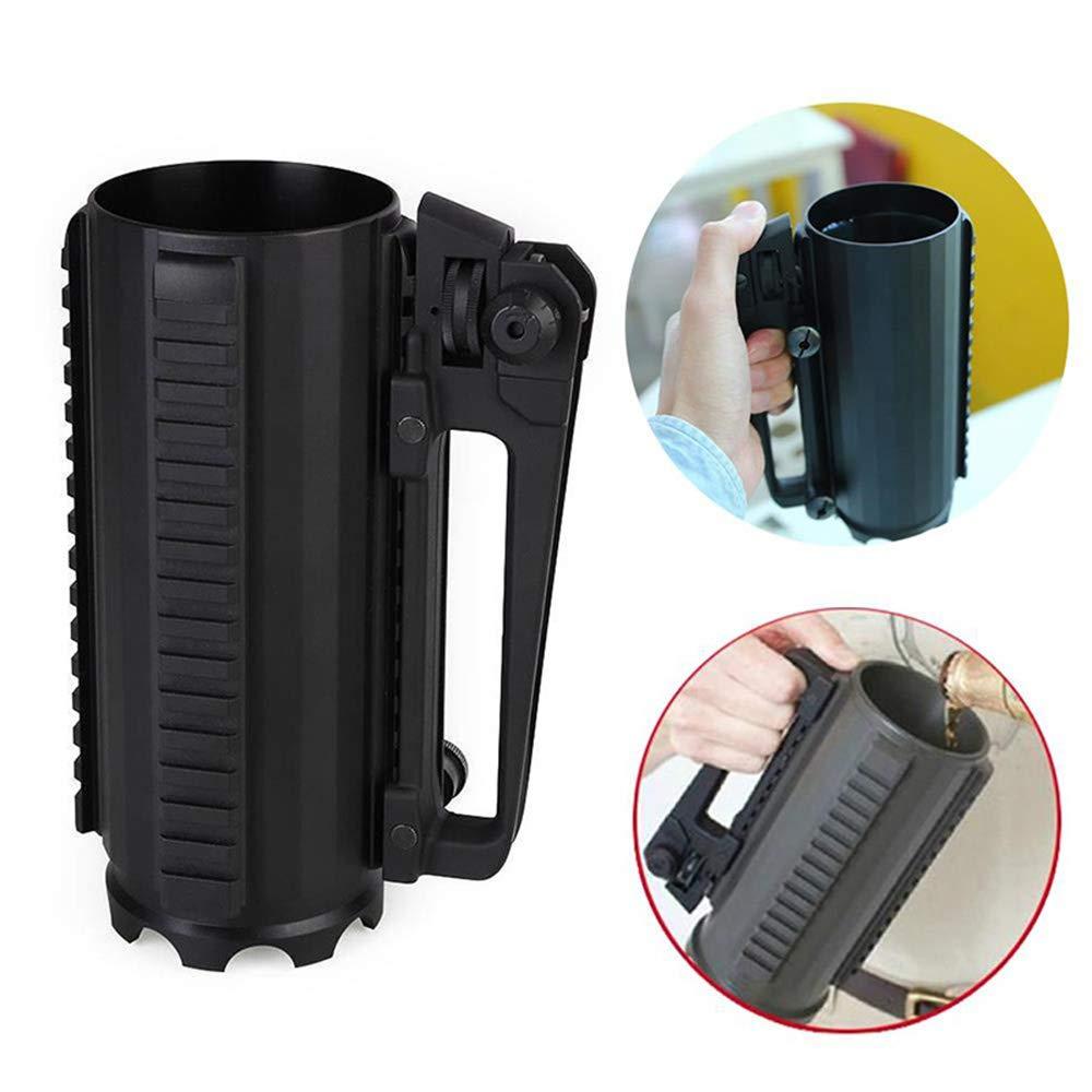 Taktische Becher Tasse Multi Funktion Aluminiumlegierung Abnehmbare Hot Cold Water Bier Kaffee Trinken Werkzeug Outdoor Camping