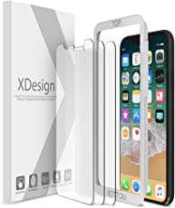 iPhone X Screen Protector [3 Pack], XDesign Tempered Glass Screen Protector for Apple iPhone X 2017, [Touch Accurate][Impact Absorb] [Easy Install] iPhone X Screen Cover [Fit most Cases] (3-Pack)