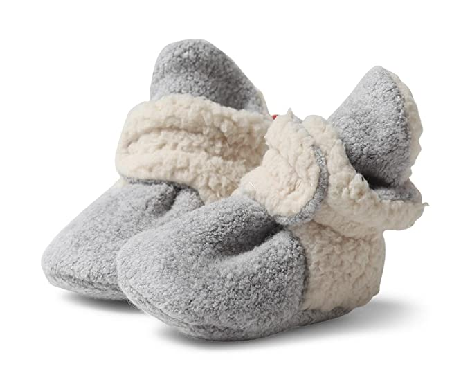 Zutano - Cozie Fleece Furry Lined Bootie - Heather Gray - Size 6 month