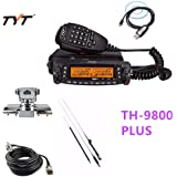 (Ship by DHL) 1806A Newest Updated Version TYT TH-9800 Plus 50W Quad Band Cross Repeater Car Truck Radio Transceiver with Programming Cable & 5M Coax Cable & Stainless Clip Mount