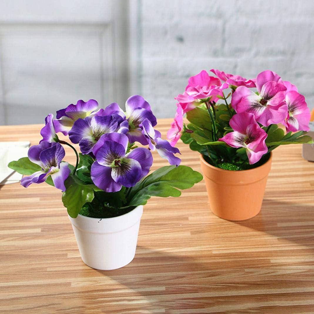 Enticerowts Blume Party-Dekoration Schreibtisch 1 St/ück Bonsai Zuhause lebendige Farbe B/üro k/ünstliche Stiefm/ütterchen Garten