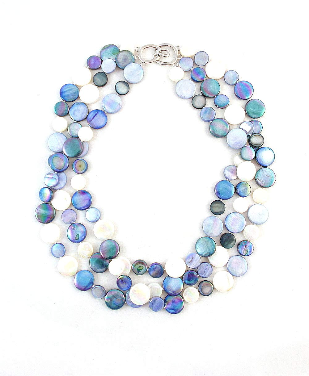 The Island Pearl Blue Mother of Pearl Necklace by The Island Pearl