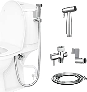 Handheld Bidet Sprayer for Toilet - Baby Cloth Diaper Sprayer, KDD Stainless Steel Spray Attachment with Hose for Feminine Hygiene, Bathing Pets, Baby Shower, Adjustable Water Flow