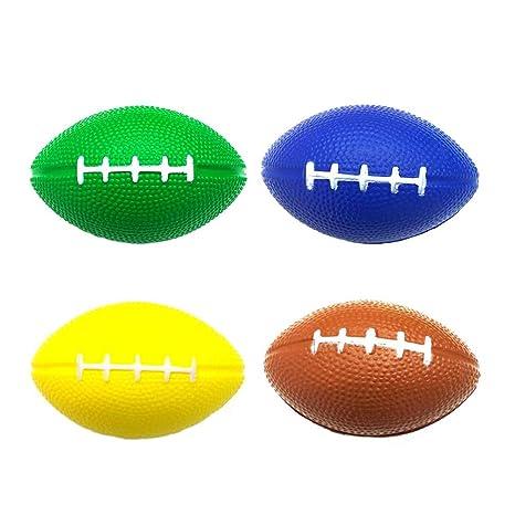 LIOOBO Juego de 4 balones Deportivos, balones de Rugby de Pelotas ...