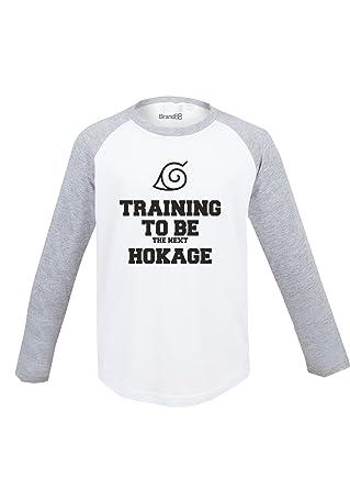 Training To Be The Next Hokage, Kinder Langarm Baseball T-Shirt - Weiss &