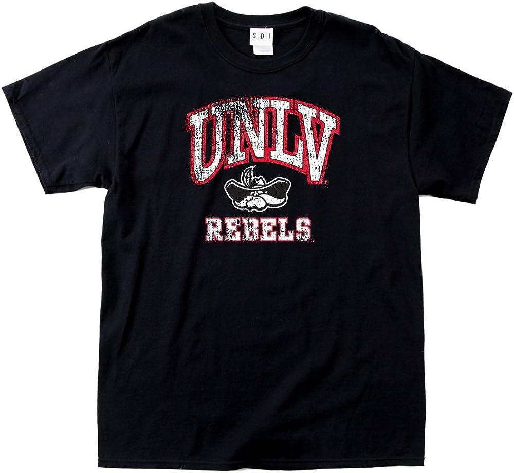 NCAA UNLV Rebels 100-Percent Pre-Shrunk Vintage Mascot Short Sleeve Tee