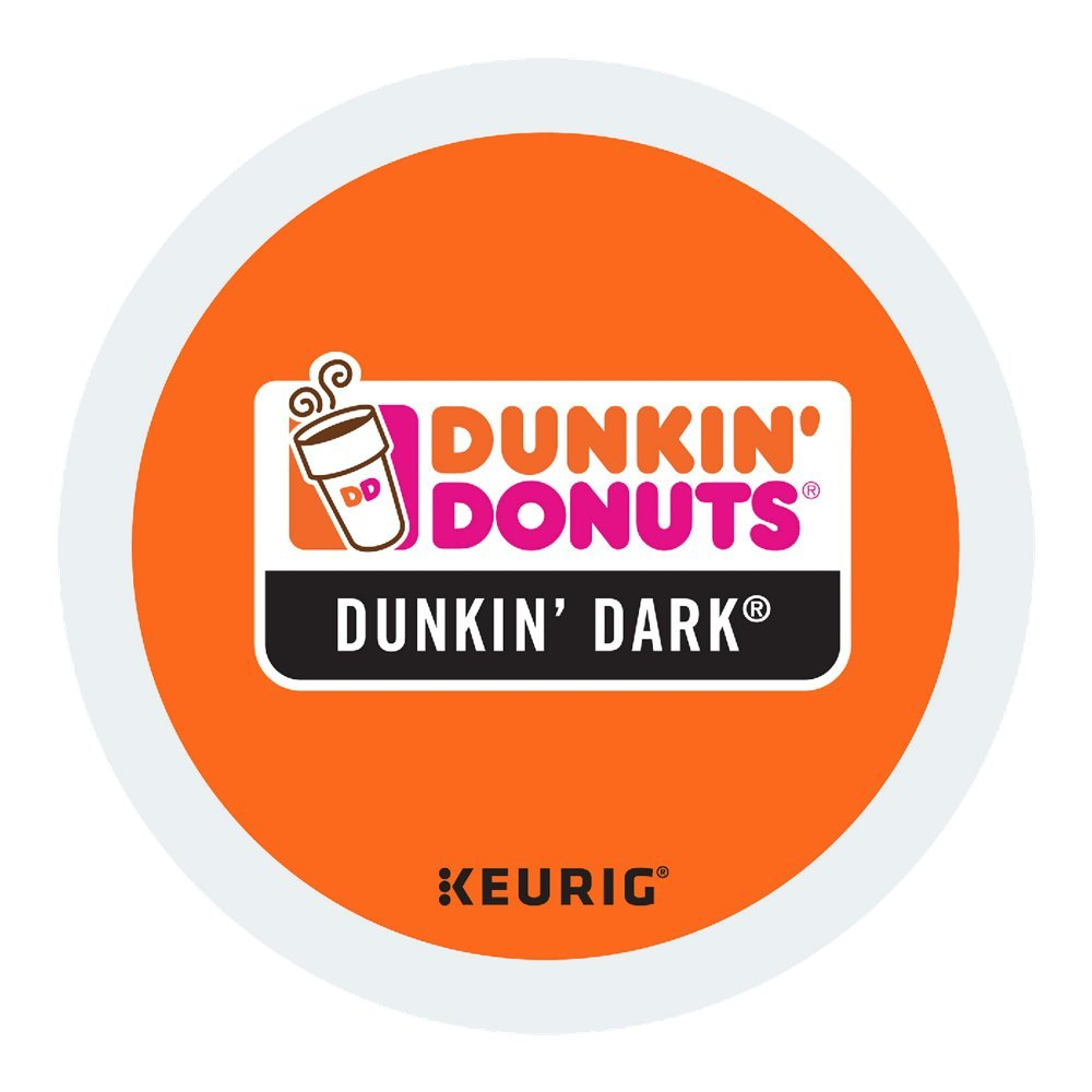 Dunkin Donuts Dunkin Dark Coffee K-Cups For Keurig K Cup Brewers (96 Count) - Packaging May Vary