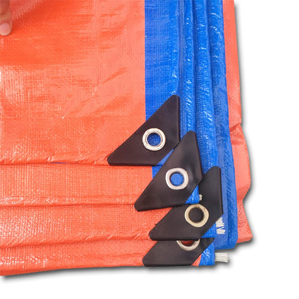 HUYYC 防水カバーの防水カバー、青/赤の屋外織物PVC ターポリン、グロメット付き13ミルアウニング/カーリバーシブルポリターポリン,18x24Feet/6x8m B07MN6MGJR  18x24Feet/6x8m