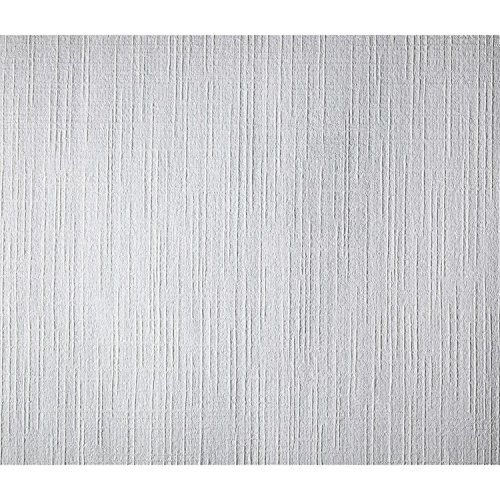 (York Wallcoverings Patent Decor PT9864 Course Weave Paintable Wallpaper, White)
