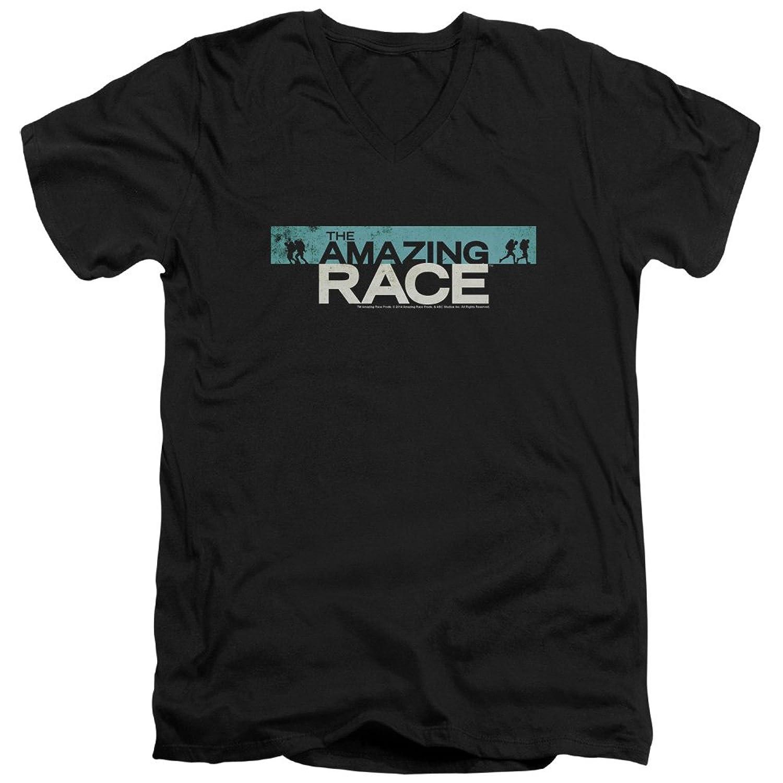 Amazing Race, The - Mens Bar Logo V-Neck T-Shirt