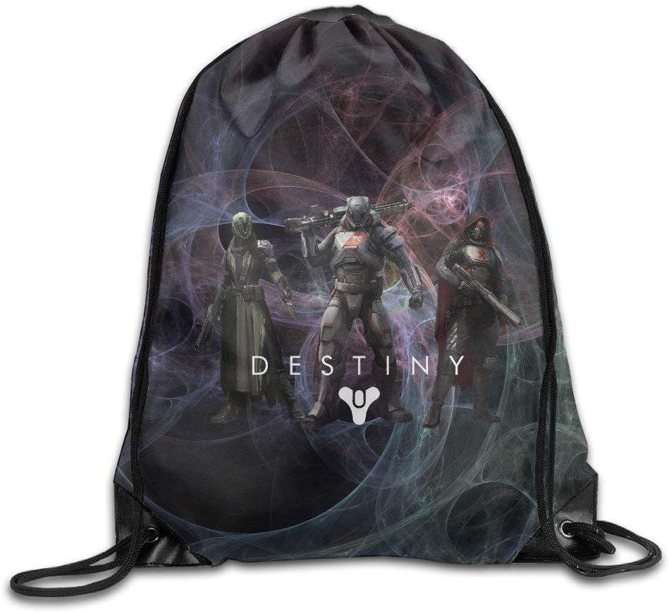 Lawenp Design cr/éatif Cool Game Destiny Drawstring Backpack pour Hommes et Femmes