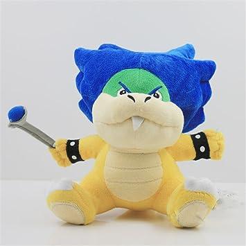 Muñeca de juguete de peluche 16cm Super Mario Bros Bowser Koopa Koopalings Ludwig